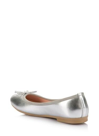 DeFacto Kız Çocuk Fiyonklu Babet Ayakkabı Gümüş
